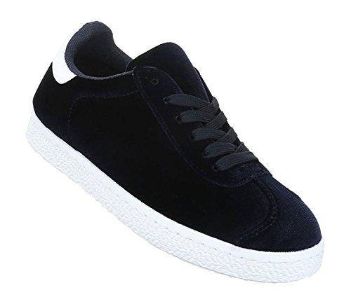 Damen Freizeitschuhe Schuhe Sneakers Sportschuhe Turnschuhe Sportschuhe Dunkelblau