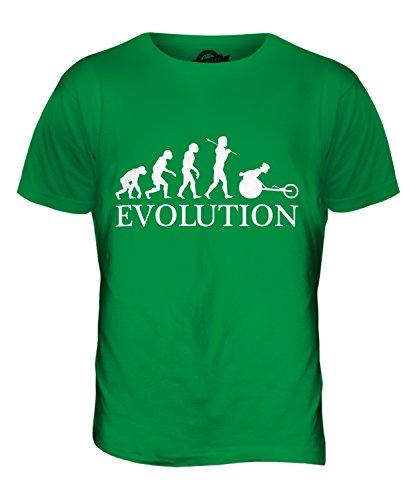 CandyMix Rennrollstuhl Rollstuhlrennen Evolution Des Menschen Herren T Shirt Grün