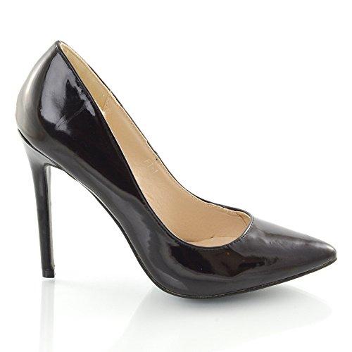 ESSEX GLAM , Sandales Compensées femme noir verni