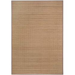 Alfombra de bambú ecológica, 100% bambú, sin sustancias nocivas, Alfombra Trenzada en 4 tamaños para salón, Cocina, baño, etc, Naturaleza, 50 x 80 cm