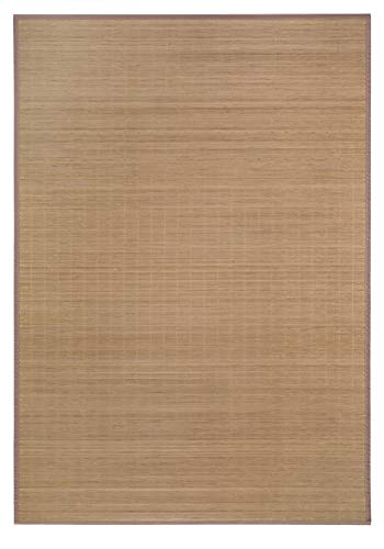 andiamo Alfombra de bambú ecológica, 100% bambú, sin sustancias nocivas, Alfombra Trenzada en 4 tamaños para salón, Cocina, baño, etc, Naturaleza, 50 x 80 cm