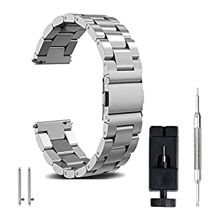 FashionAids 22mm 20mm 18mm watch strap watch bStainless Steel BStrap Metal  Replacement Band