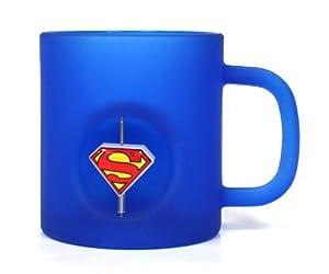 DC Comics - Taza de cristal con emblema giratorio 3D, logo de Superman (SD Toys SDTWRN27553) - Taza Superman logo 3d cristal