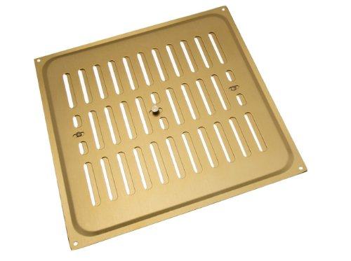 Packung mit 1 Aluminium Gold-Hit und Miss Louvre Vent Belüftung Cover 9 X 9 Zoll