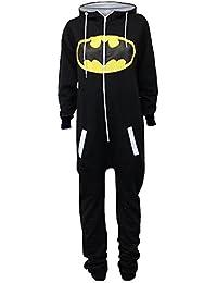 UUstar® Unisex Herren Damen Onesie Overalls Batman Superman Body All In One