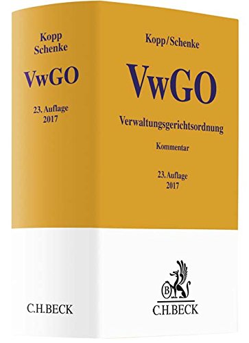 Verwaltungsgerichtsordnung (Gelbe Erläuterungsbücher) (Cover-Bild kann abweichen)