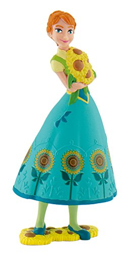 Bullyland 12959 - Spielfigur, Walt Disney Frozen Fever, Anna, ca. 9,5 cm, bunt -
