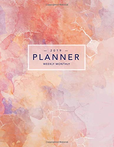 2019 Planner Weekly Monthly: Pink Marble | Inspirational Quotes, Habit Trackers + More por Nifty Notebooks