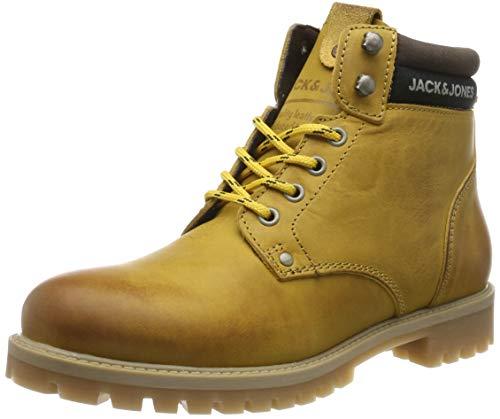JACK & JONES Jfwstatton Leather, Botas Clasicas para Hombre, Amarillo Honey Honey, 43 EU