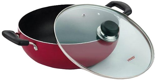 Vinod Cookware Zest Non-Stick Induction Friendly Deep Kadai with Lid, 2.6 Litres  available at amazon for Rs.999