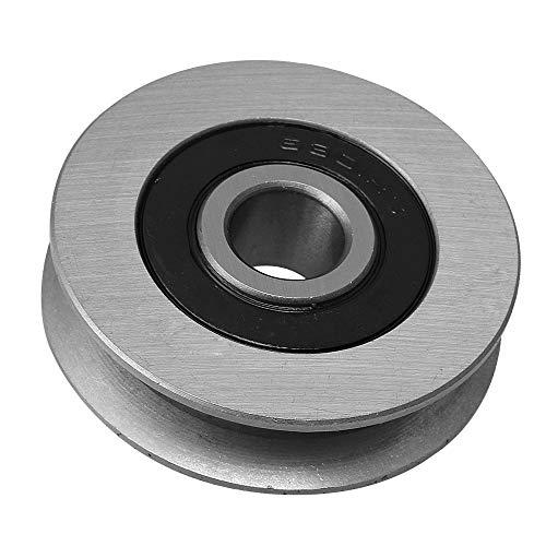 50x13mm Titan Farbe Eisen Lager Stahl Seilrolle U-Form Radlager Umlenkrolle Tragende 512 KG für Fitnessgeräte Garagentoröffner
