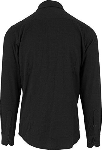 Urban Classics Checked Flanell Shirt, Holzfällerhemd für Herren und Jungen, Flanellhemd langarm mit aufgesetzten Brusttaschen Blk/Blk