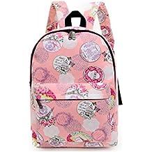 westeng 1pc moda ocio señoras niñas lienzo mochila/bolsa de ordenador portátil/bolso de hombro/Bookbag/mochila escolar para las niñas adolescentes