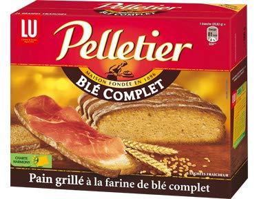 Pain grillé au blé complet 24 tranches Pelletier - 500 g