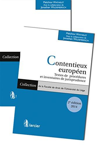 Contentieux européen (2 volumes)