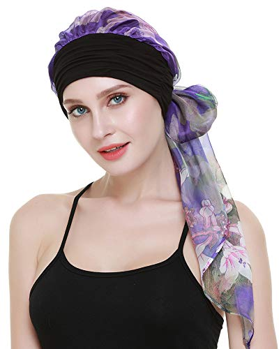 FocusCare Femenino Sombreros para quimio Alopecia Damas turbantes Bufandas Gorras Sombreros de Cuero Funda de Dormir
