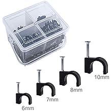 TPFNet Kabelschellen Kabelhalter 100 St/ück f/ür Maximal 10mm Leitungen Wei/ß