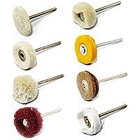 InisIE 6PCS Pulido Rueda de Pulido Pad Sistema de Cepillo del pulidores Herramienta para la Broca de Rotary