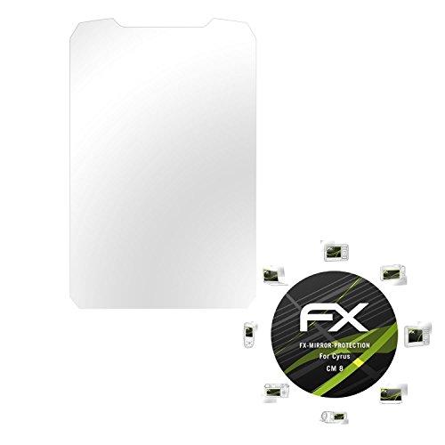 atFolix Bildschirmfolie kompatibel mit Cyrus cm 8 Spiegelfolie, Spiegeleffekt FX Schutzfolie