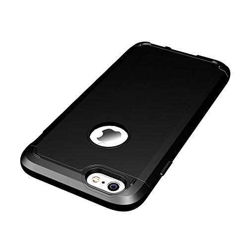 iPhone 6 Plus, ® ULTRA LUVVITT ARMOR iPhone 6 Plus Case/Schutzhülle für Apple iPhone 6 Plus passt 13.97 cm Display, Double Layer stoßdämpfende Schutzhülle (passt nicht für iPhone 5/5S/5C/4/4s und iPho schwarz