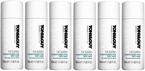 X6 Toni & Guy London Salon Cleanse Nourrit Après-shampoing pour cheveux secs lisses et Hydratées 50 ml.