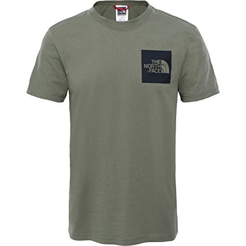 The North Face Fine Short Sleeve T-Shirt X Small Deep Lichen Green (Face-print-jersey The North)