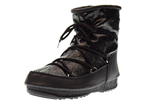 Bottines - Boots, couleur Noir , marque MOON BOOT, modèle Bottines - Boots MOON BOOT W.E. LOW GLITTER Noir