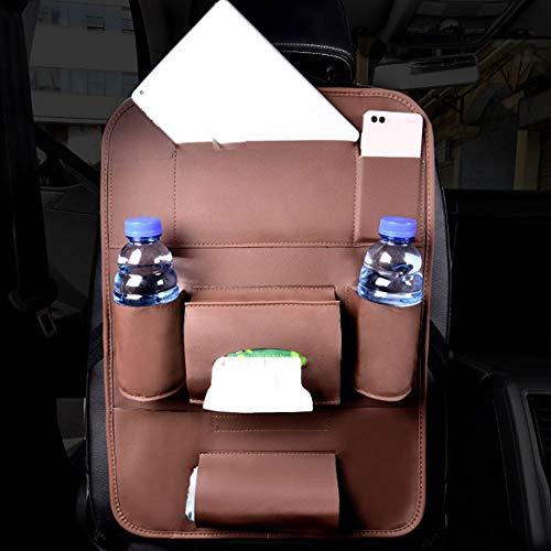 Xiaomu Weihnachts-Auto-Aufbewahrungstasche Sitzrücksack Premium PU Leder Multicolor Car Care...