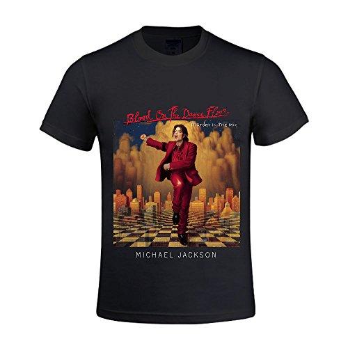michael-jackson-bad-hombres-camisetas-cuello-redondo-casual