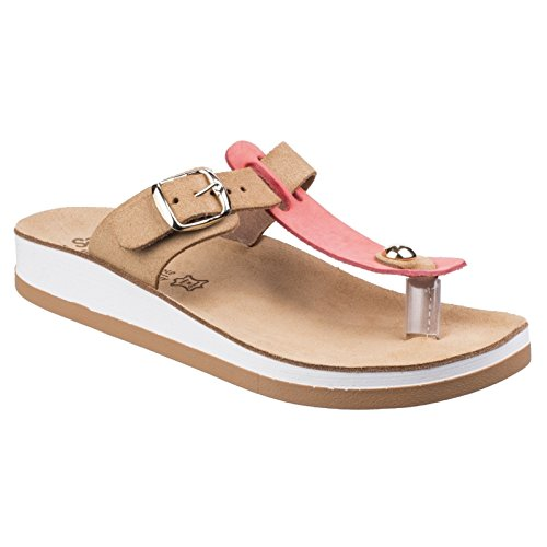 1b0c05f10c92 Fantasy Womens Ladies Viola Buckle-Up Lightweight Summer Sandal
