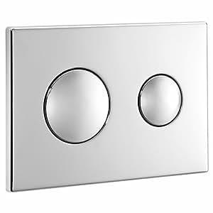 ideal standard s4399aa plaque de chasse d 39 eau double. Black Bedroom Furniture Sets. Home Design Ideas