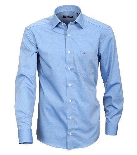 Casa Moda - Comfort Fit - Bügelfreies Herren Business Hemd mit Extra langem Arm (72cm) in verschiedenen Farben (006062) Blau (13)