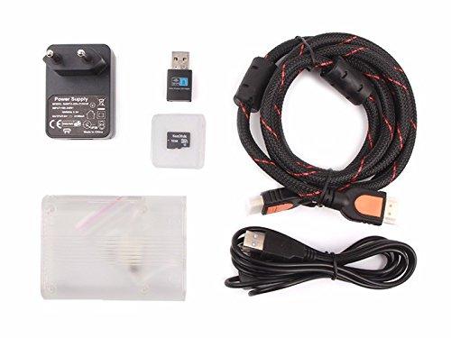 Raspberry Pi 3 Media Center Kit(NOT include the Raspberry Pi 3),16 GB MicroSD card (class 10) with preinstalled OSMC,Raspberry Pi 3 Arc Enclosure-Transparent,5V 2.1A Power Adapter (European Standard) (1 Microsd-media-kit)