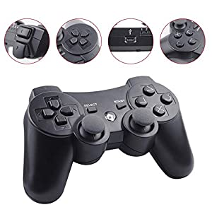 Cypin Wireless Controller für PS3 Bluetooth Game Controller Joystick Gamepad Playstation 3 Dual-Vibration 6-Achsen USB…