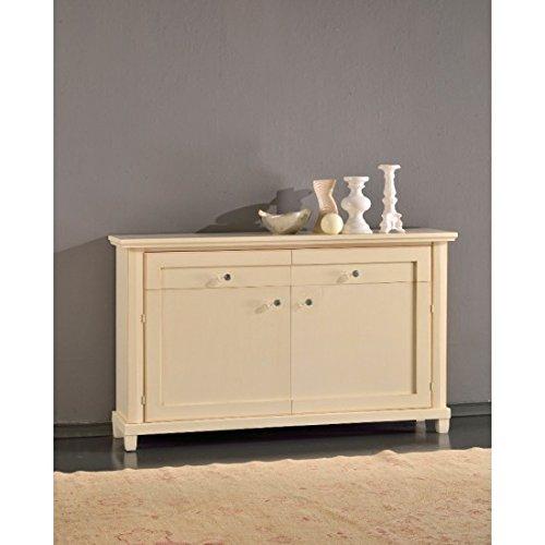 Estense – Coffre Buffet en bois couleur ivoire patine – 584 F