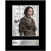DS Maisie Williams Game of Thrones Autogramme Signiert 21cm x 29.7cm Foto Plakat