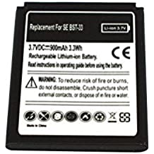 Power Smart® 3,70V 900mAh batería de ion de litio para Sony Ericsson Cybershot k790a, Cybershot K790C, Cybershot K790i, Cybershot K800C, Cybershot K800i, J100a, J100C, J100i, K550C, K550i,, K550im K810i, K818C, V800, V802SE