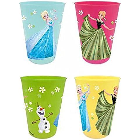 Frozen - Pack 4 vasos plástico colores (Sun City RNA101507)