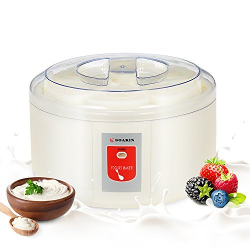 Decdeal Soarin - 1,5 Litros Yogurtera Automática Eléctrica de 6 Tarr