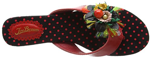Joe Browns Damen Down in Rio Sandalen Rot (Red Multi)