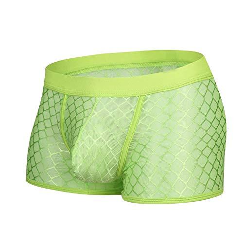 Celucke Unterwäsche Herren Transparent, Männer Niedrige Taille Mesh Boxer Beule Comfy Shorts Unterhose Unterwäsche - Mesh Boxer