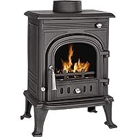 5.2kW Cast Iron Wood Burning Log Burner Multifuel Traditional Stove Fireplace