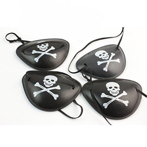 Tikiville Piraten-Augenklappen für Halloween-Partys und Cosplay, Schwarz (Halloween Augenklappen)