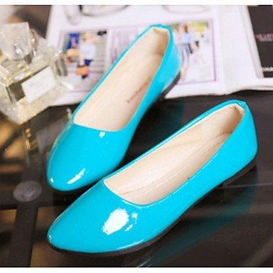 Wuyulunbi @ Femmes Chaussures Pu Printemps Automne Comfort Flats Toe Pour Casual Beige Rouge Violet Rose Bleu Us8 / Eu39 / Uk6 / Cn39