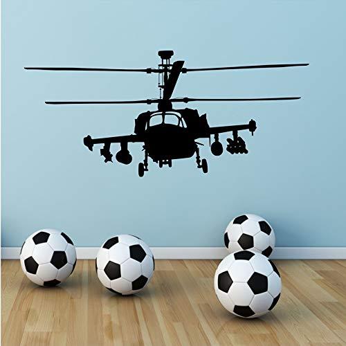 JXGG Hubschrauber Krieg Gun Schiff Armee Entfernbare Wandaufkleber für Kindergarten Babys Schlafzimmer Kunst Decals Poster 97x42 cm -