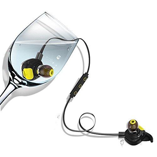 MicBridal® Bluetooth Kopfhörer 4.1 Kopfhörer Sport Stereo In Ear Kopfhörer mit Mikrofon für iOS und Android Handys Schwarz