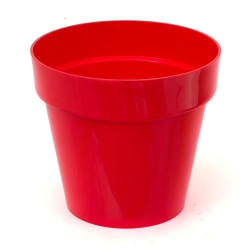 Pot de fleur Cube Shine 2.2 Lt, en rouge vif