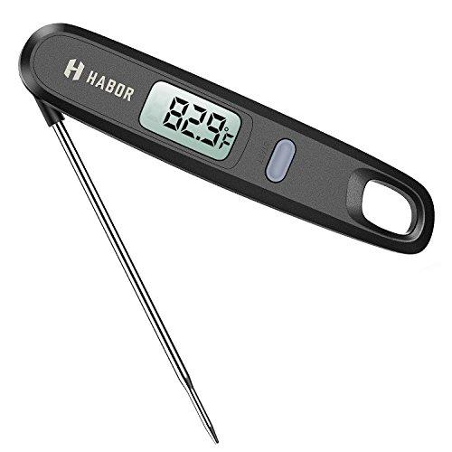 Digitales Habor-Fleisch-Thermometer / Küchenthermometer / Haushaltsthermometer / Kochthermometer / Ofenthermometer - mit magnetischer Befestigung - ° C/° F: umschaltbar - ideal für Küche, Grill und Süßigkeiten/Gebäck