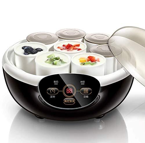 Yogurt maker home smart ceramic cup automatico mini natto machine intelligente automatic electric yogurt machine natto rice wine maker con 8 ceramic cup utensili da cucina 220