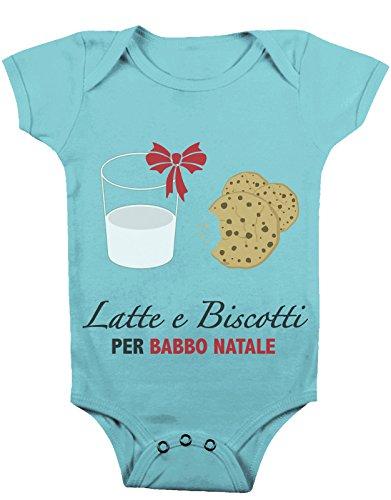 Body da neonato Latte e biscotti per Babbo Natale - Da 3 a 24 mesi by tshirteria